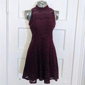 Purple Wine Lace Dress